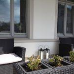 Lounge Möbel auf der Terrasse